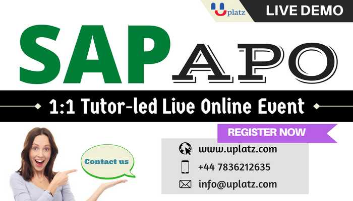 SAP APO online course and certification