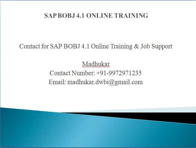 SAP BusinessObjects Training & Certification | SAP BusinessObjects