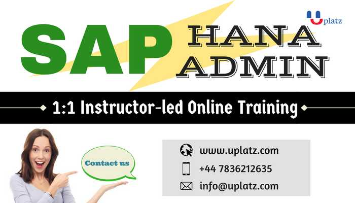 SAP HANA Admin Training online course and certification