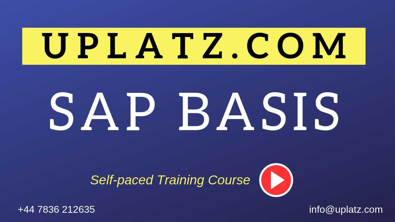 SAP BASIS online course and certification