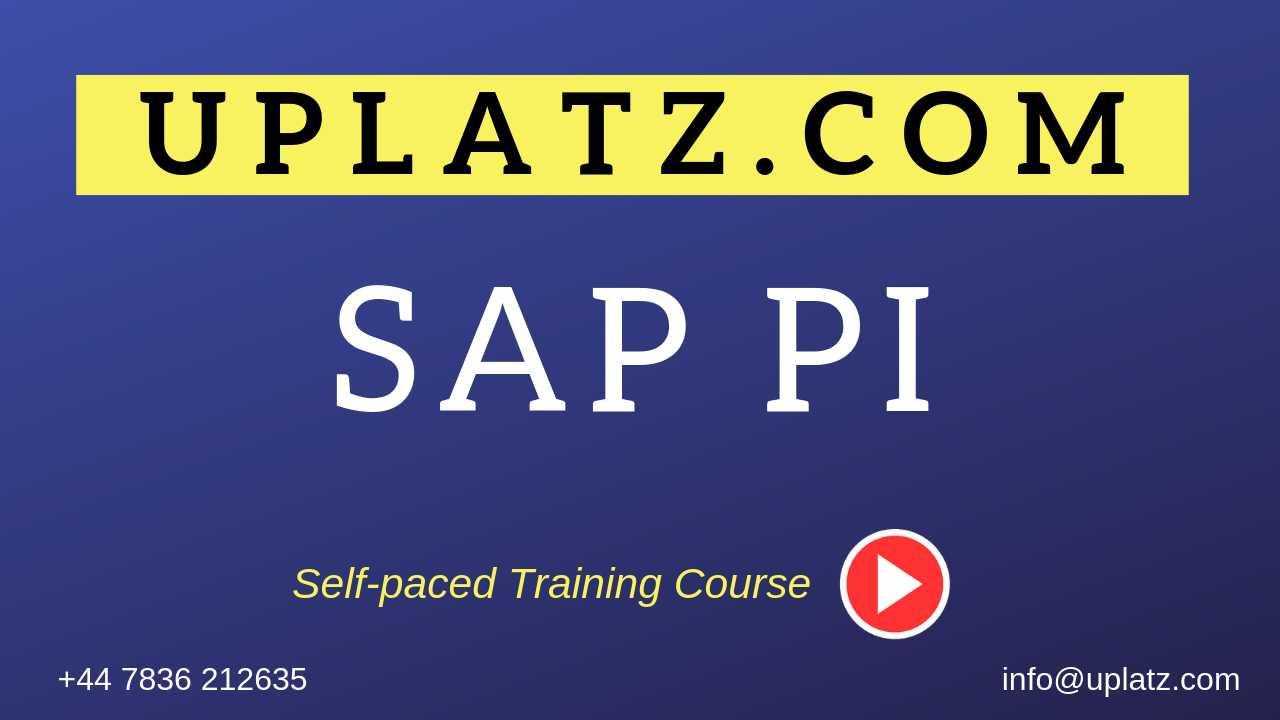 SAP PI (Process Integration) Online Training & Self-paced Video
