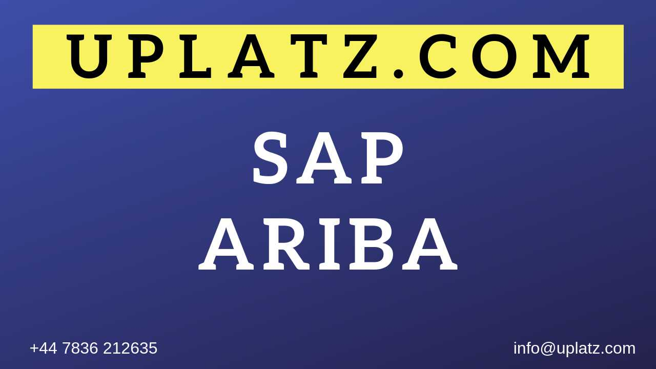 SAP Ariba Training online course and certification