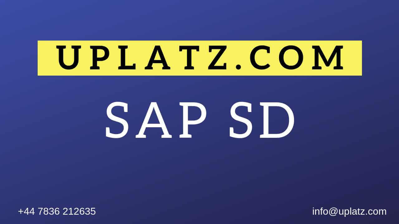 SAP SD Training online course and certification