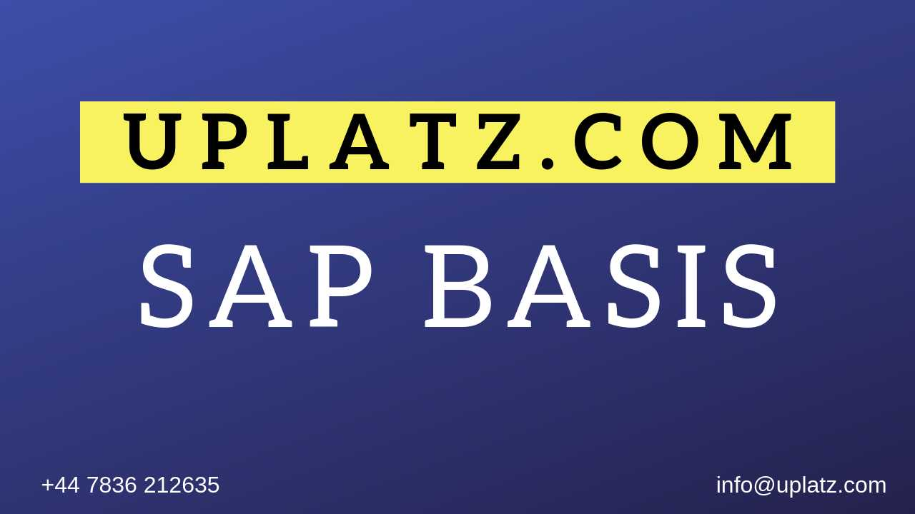 SAP BASIS Training course and certification