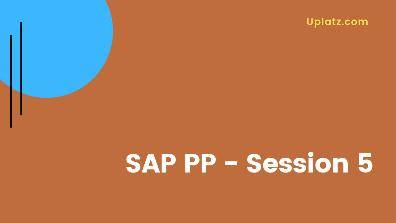 Video: SAP PP - all lectures