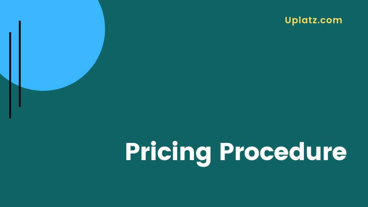 Video: Pricing Procedure