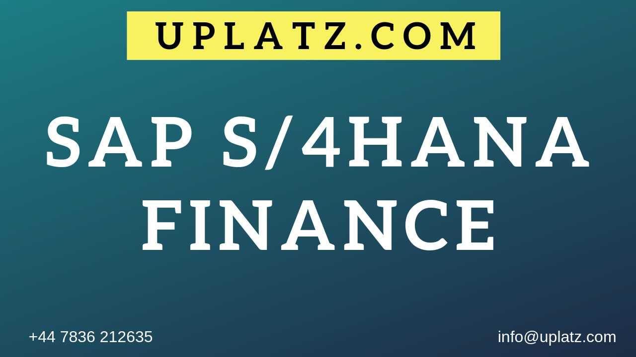 SAP S/4HANA Finance Training course and certification