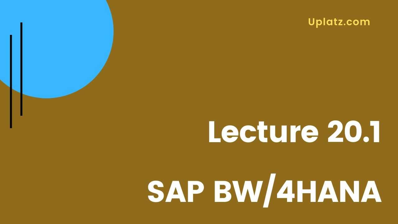 Video: SAP BW/4HANA course - all lectures