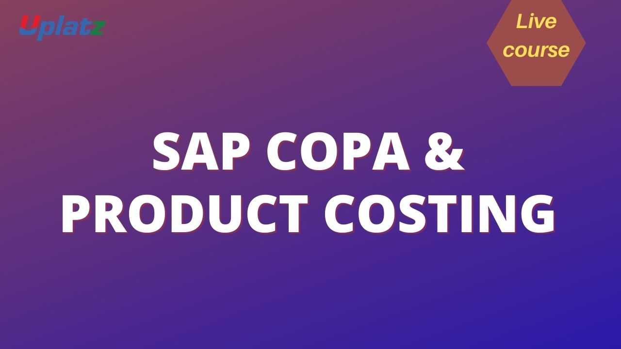 SAP COPA and Product Costing course and certification