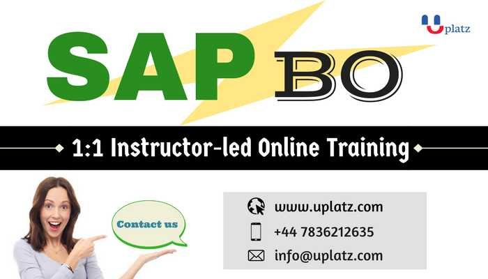 SAP BusinessObjects Information Design Tool Training online course and certification