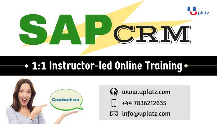 SAP CRM Solution online course and certification