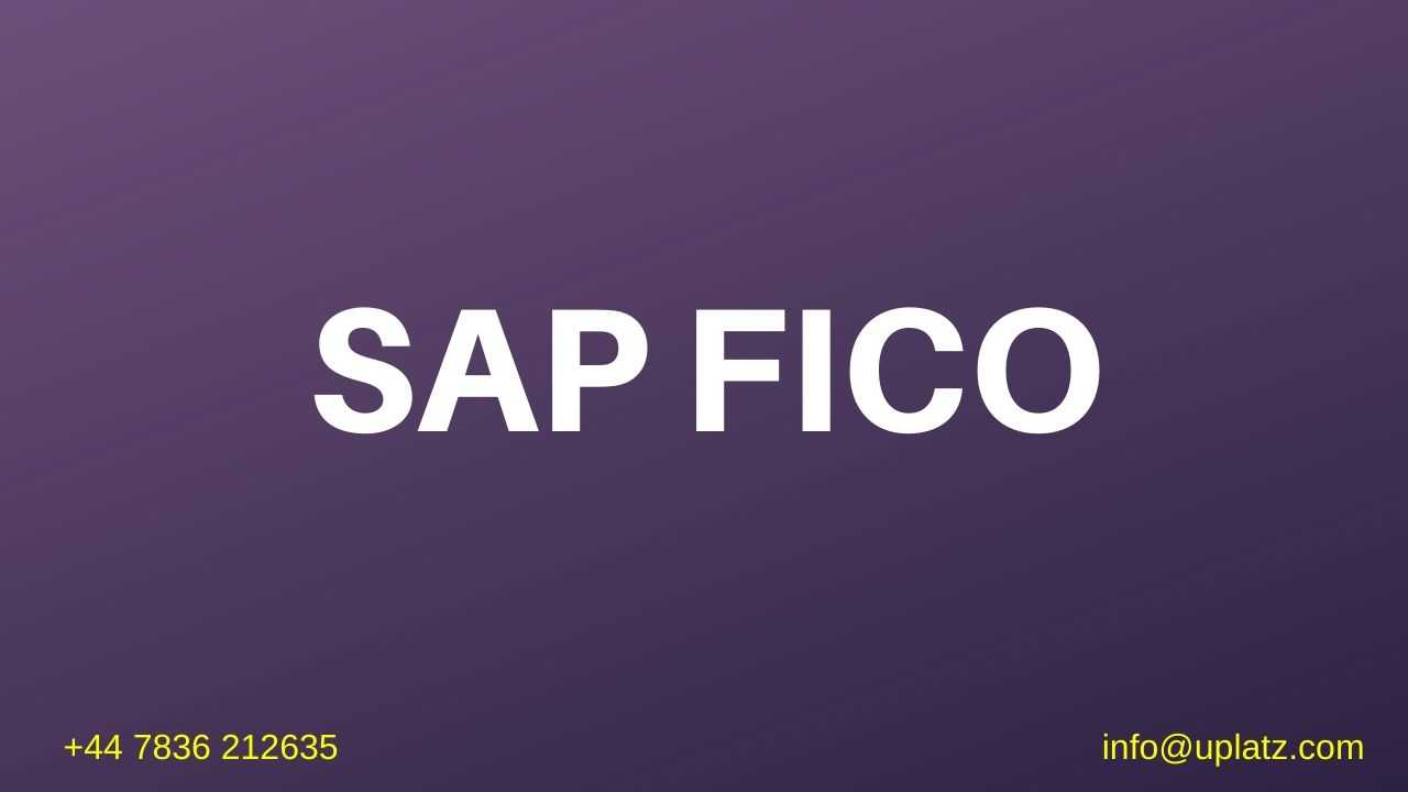 SAP Finance and Controlling online course and certification