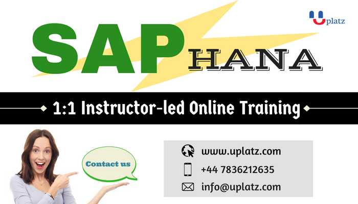 SAP HANA Course online course and certification