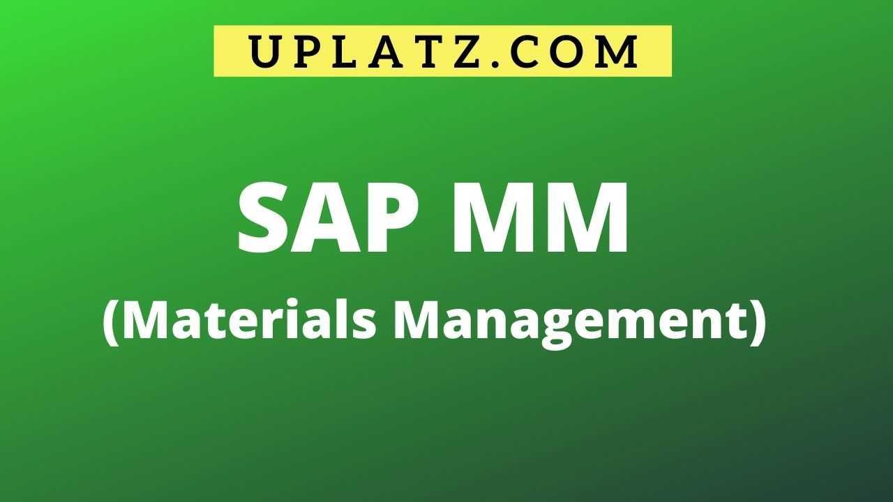 SAP MM & WM Online Training & Certification Course | Uplatz