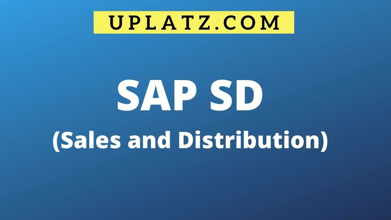 SAP online Training in SD with LE and MM overview online course and certification