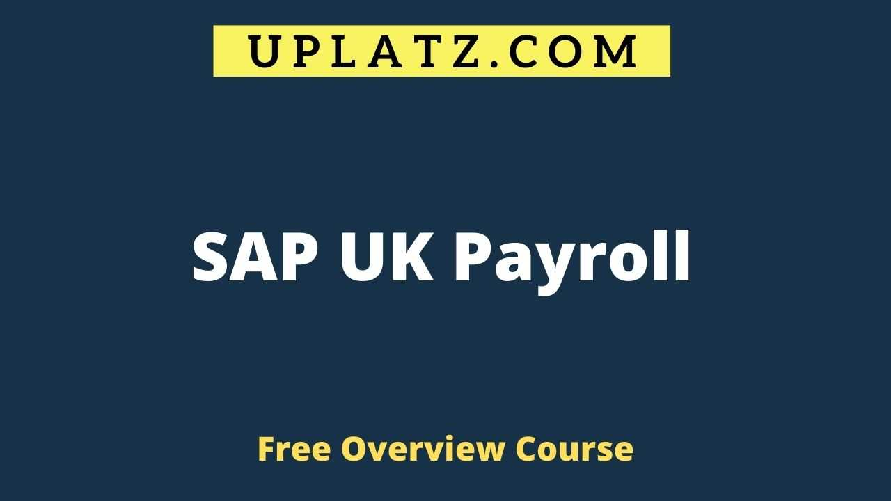 Overview Course - SAP UK Payroll