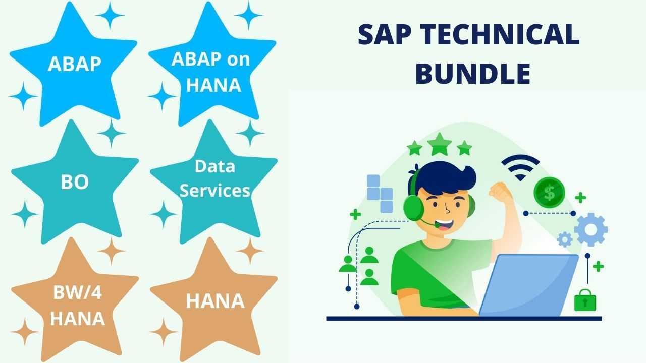 Bundle Course - SAP Technical (ABAP - ABAP on HANA - BO - Data Services - BW/4HANA - HANA)