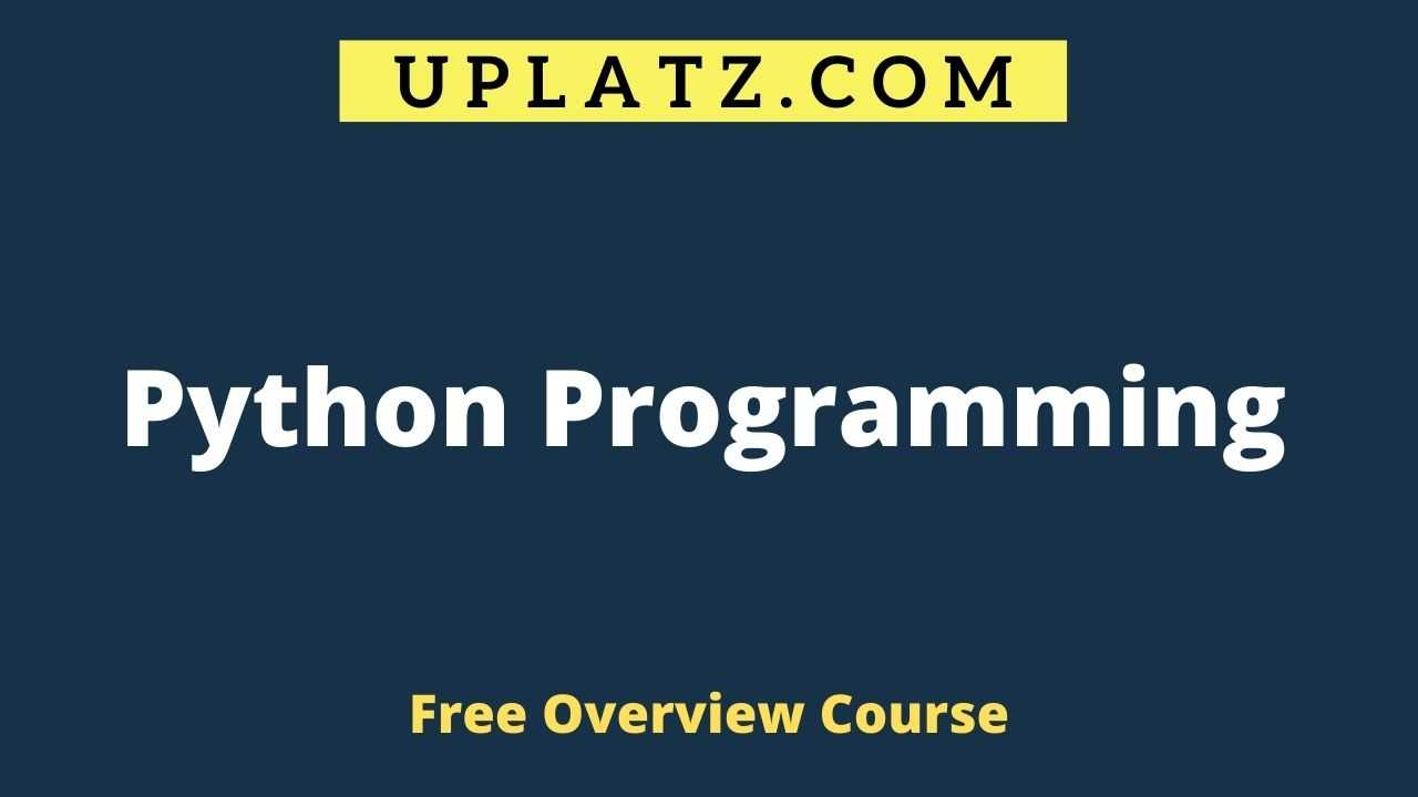 Overview Course - Python Programming