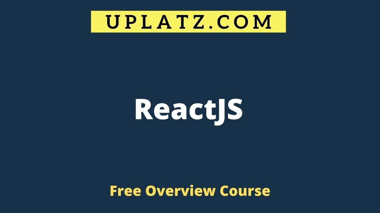 Overview Course - ReactJS