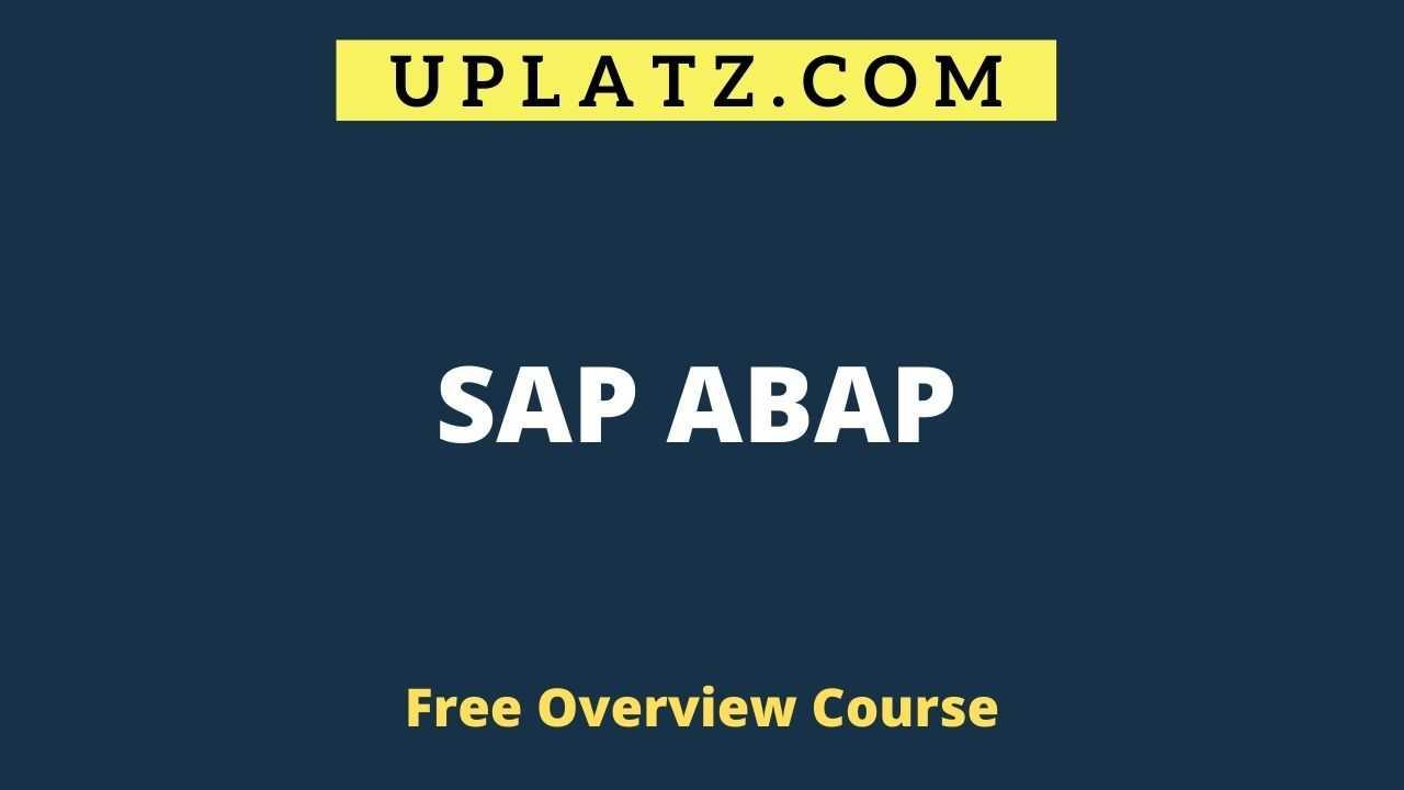 Overview Course - SAP ABAP