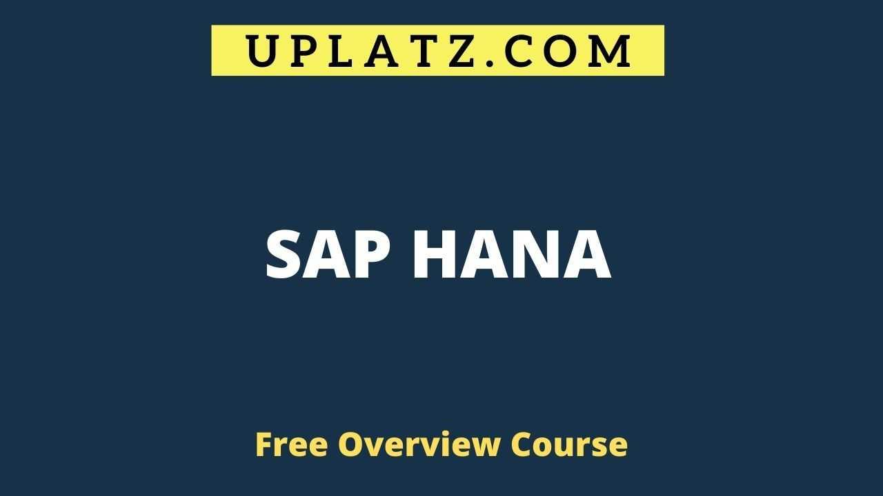 Overview Course - SAP HANA