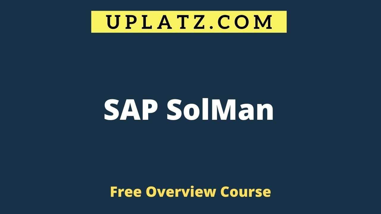 Overview Course - SAP SolMan