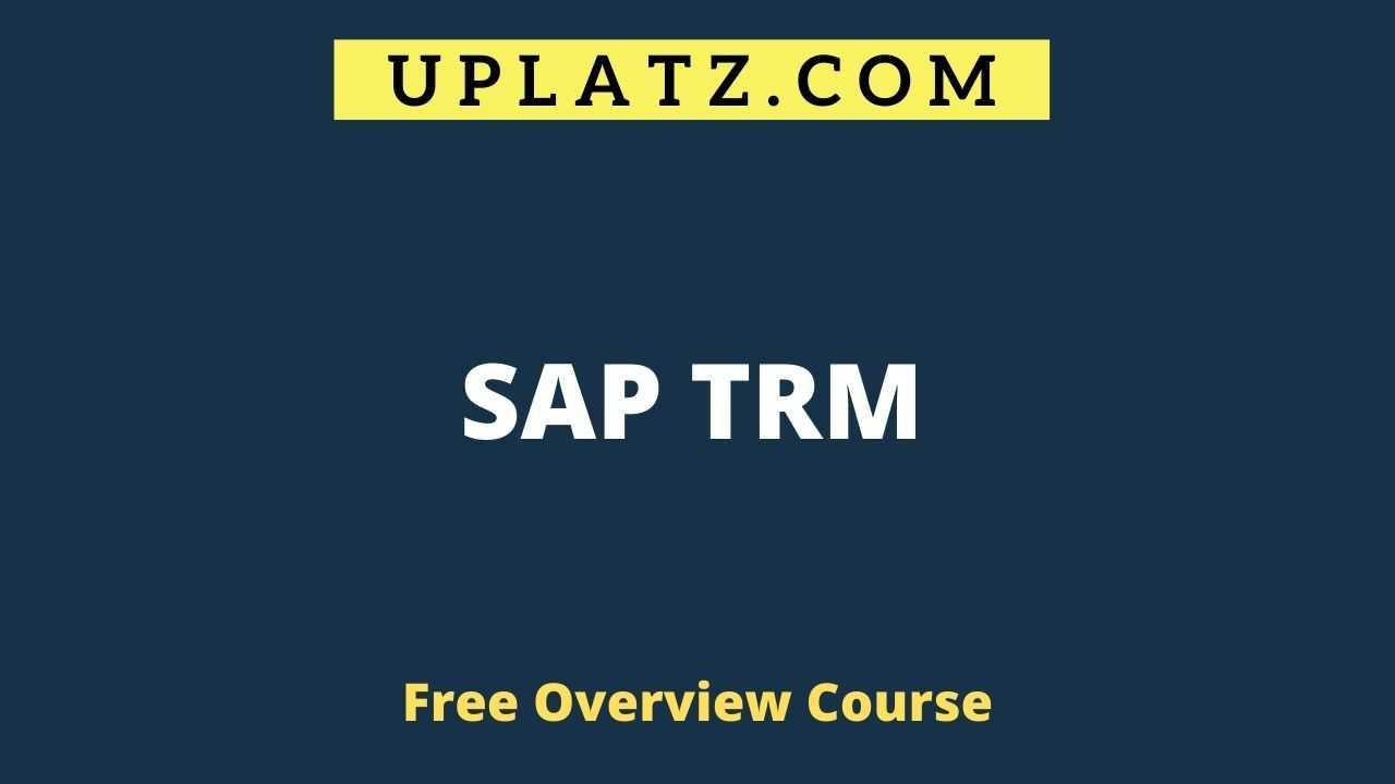 Overview Course - SAP TRM