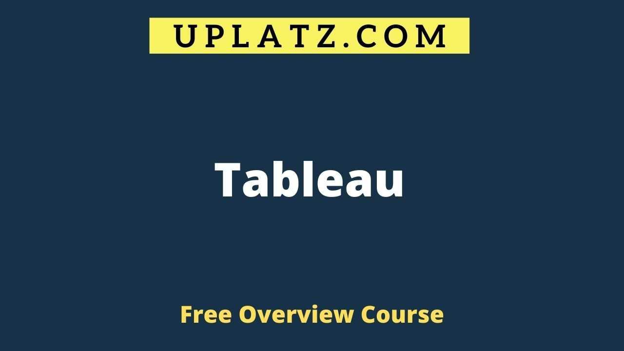 Overview Course - Tableau