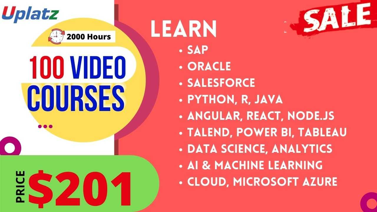 Festive Sale - Any 100 Video Courses with Lifetime Access