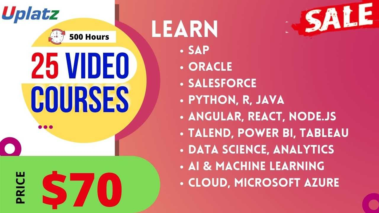 Festive Sale - Any 25 Video Courses with Lifetime Access