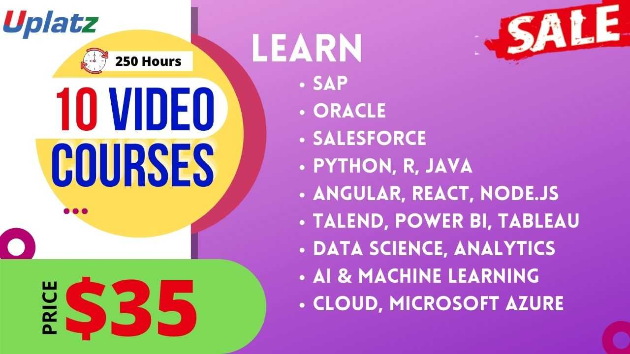 Black Friday Sale - Any 10 Video Courses with Lifetime Access
