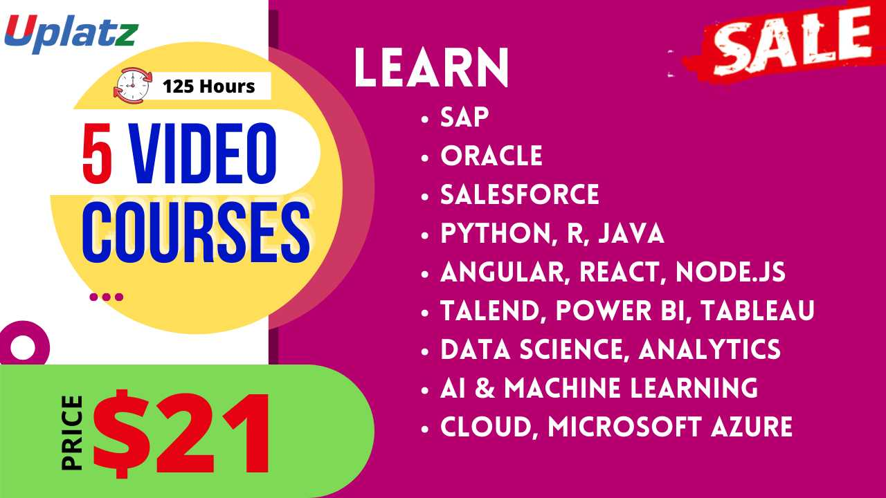 Festive Sale - Any 5 Video Courses with Lifetime Access