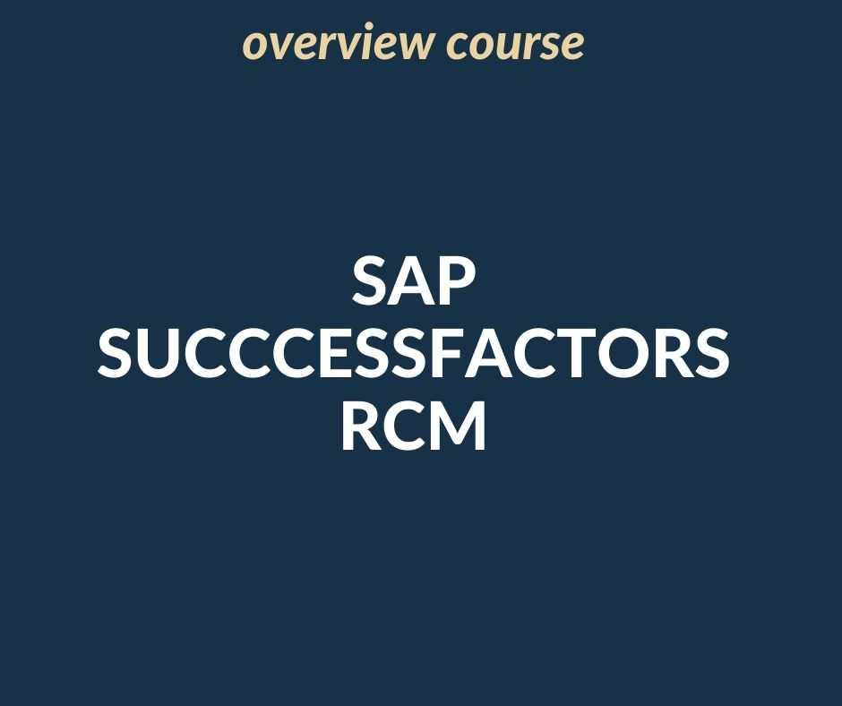 SAP SuccessFactors RCM overview