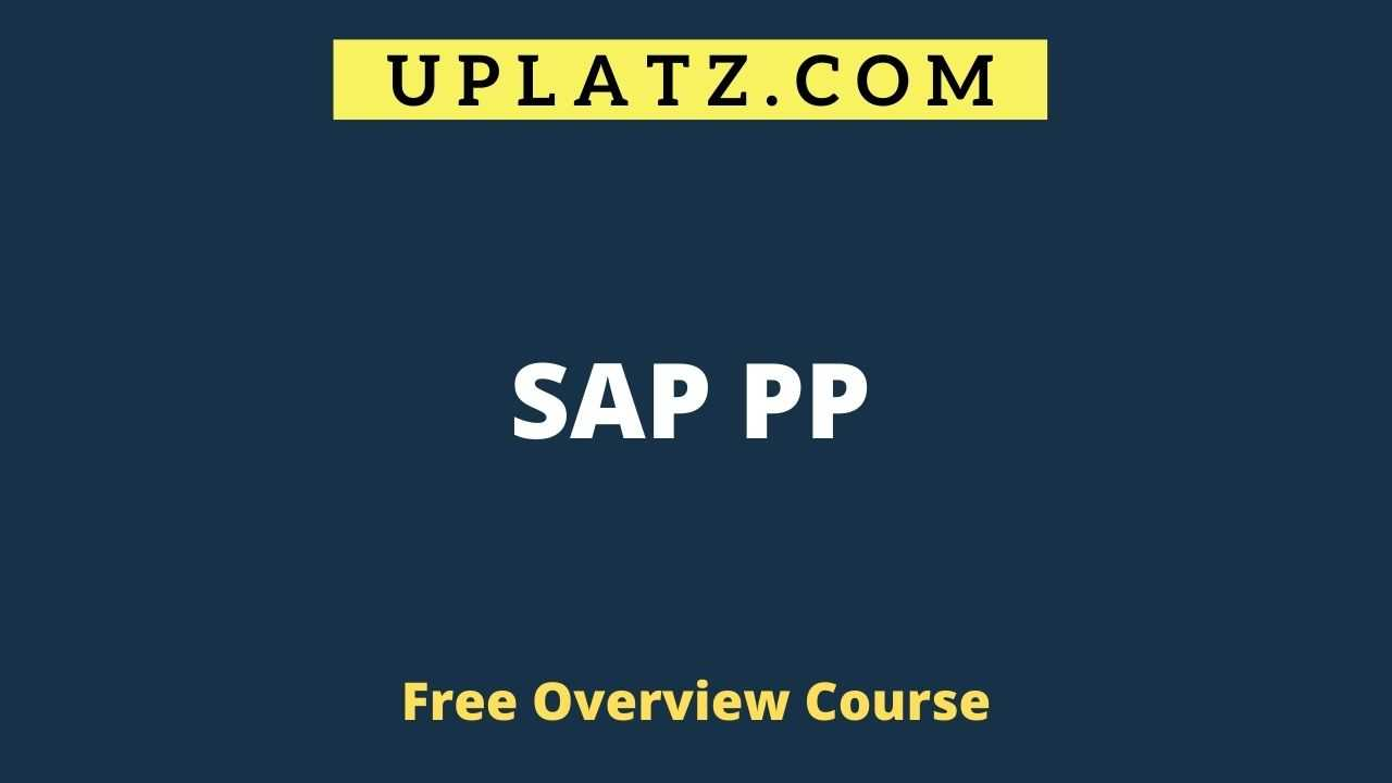 SAP PP overview