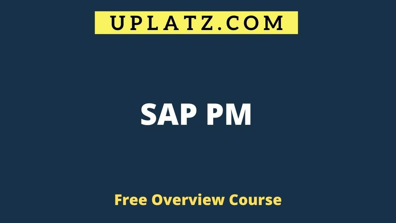 SAP PM overview