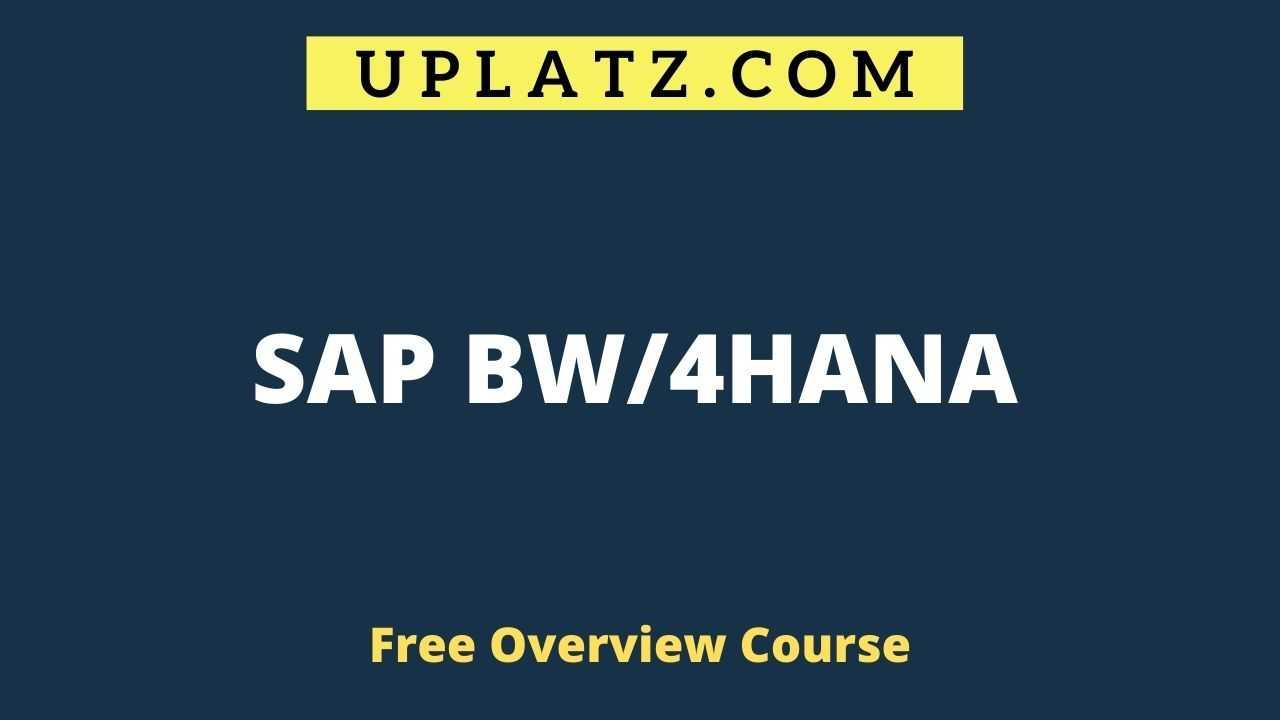 SAP BW/4HANA overview