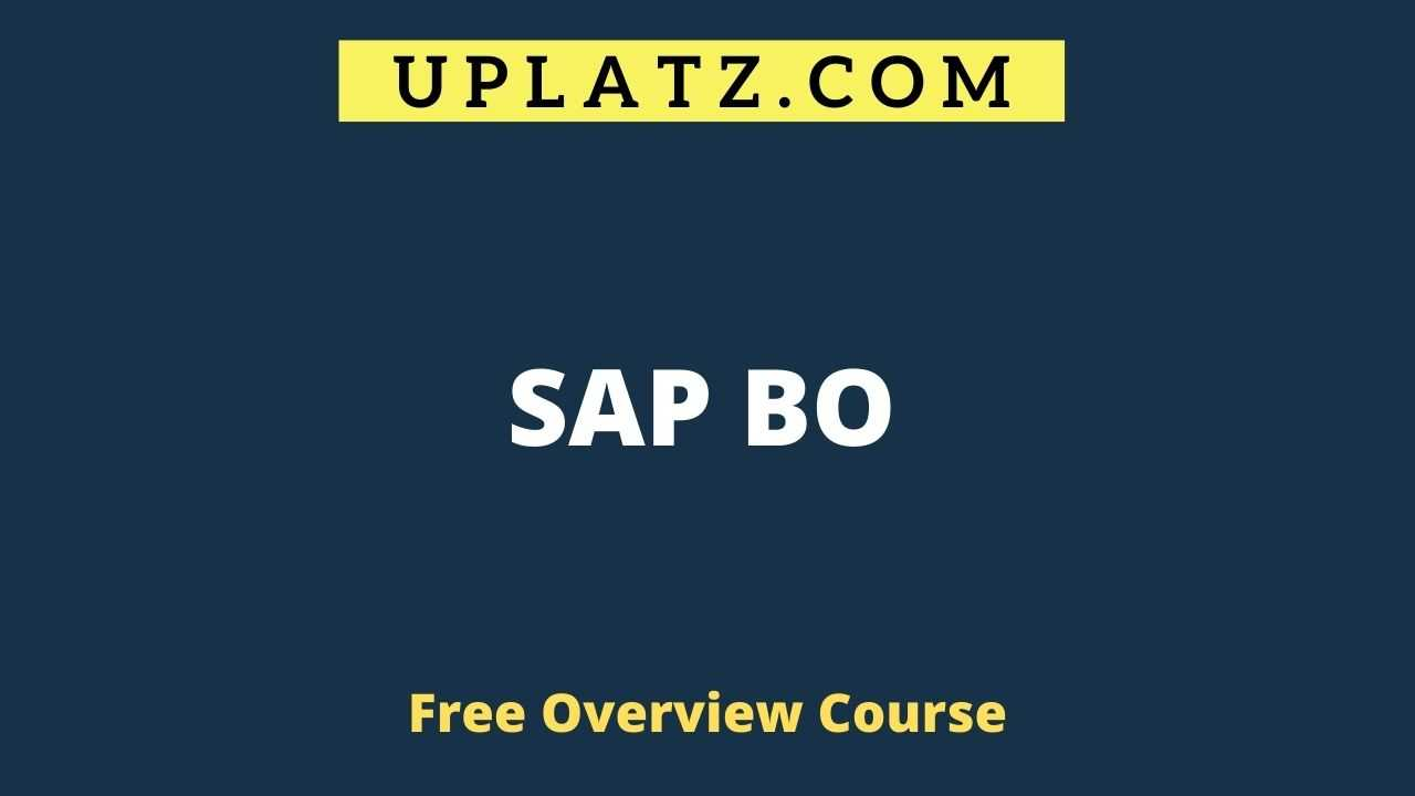 SAP BO overview