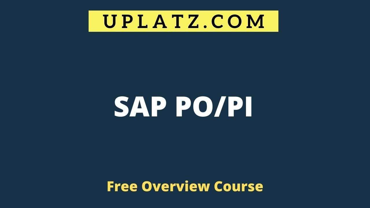 SAP PO - overview