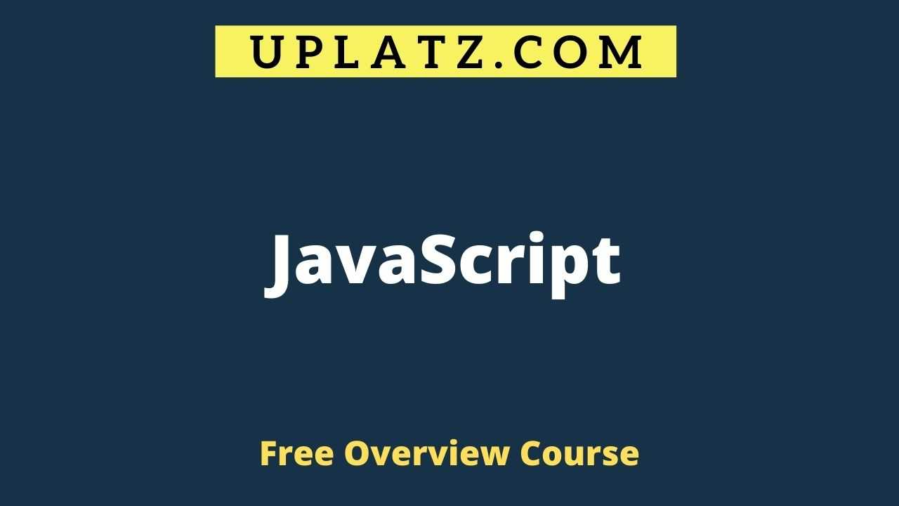 JavaScript overview