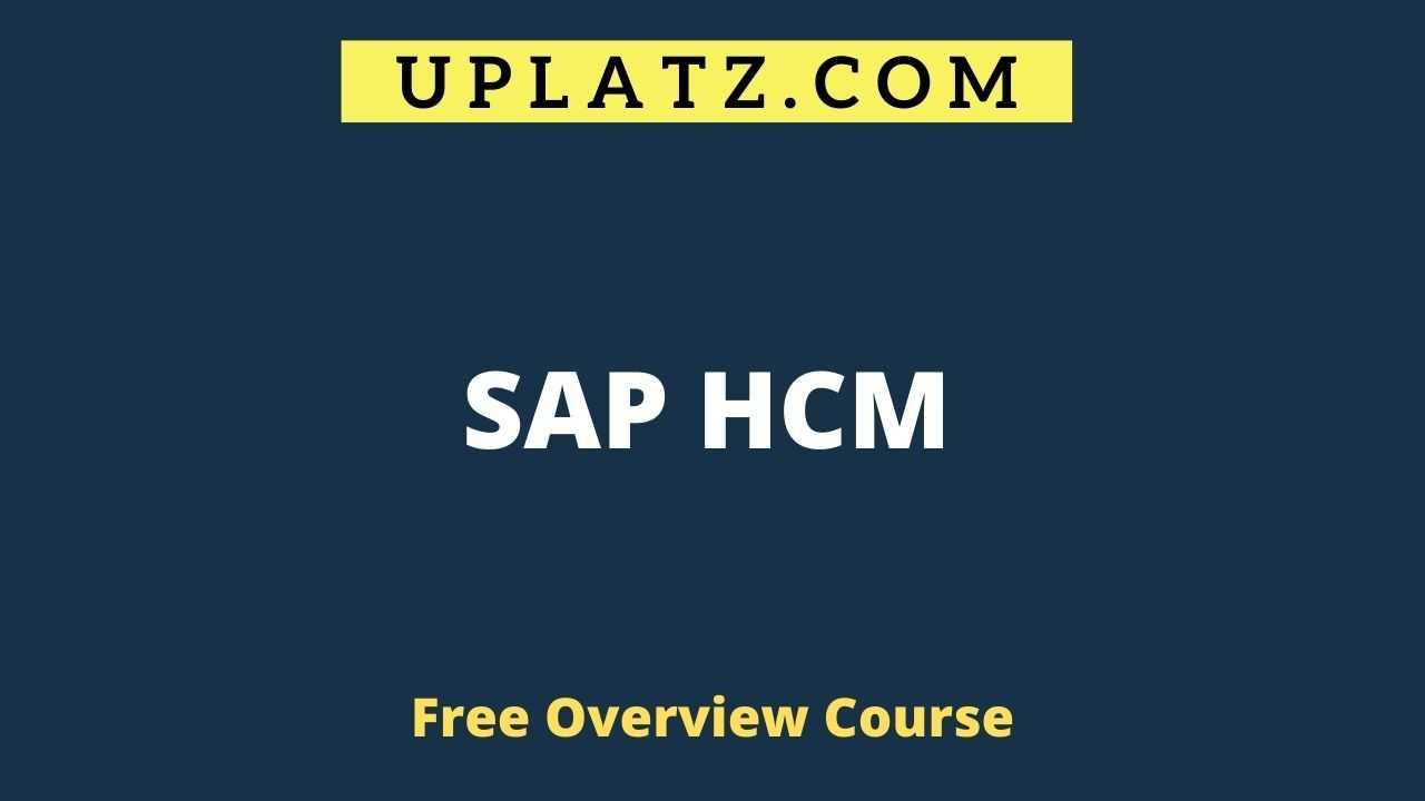 Overview Course - SAP HCM