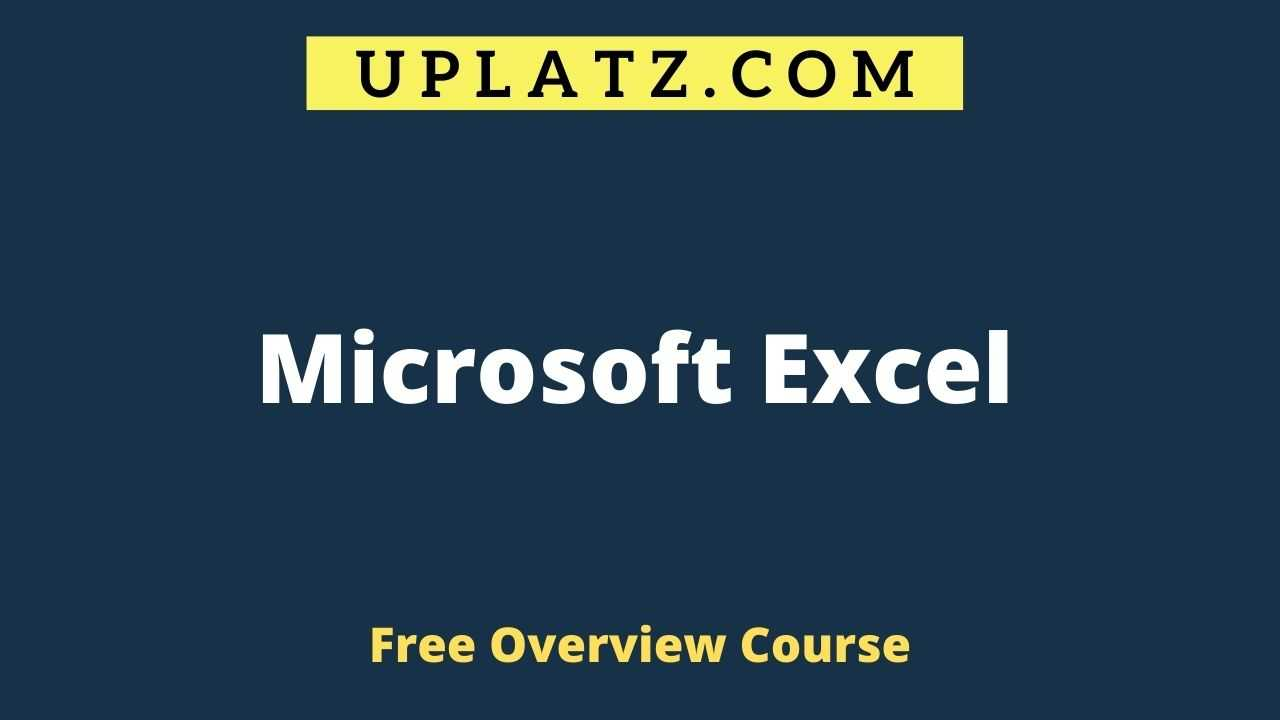 Microsoft Excel overview
